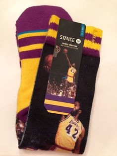 Stance Mens Socks Lakers James Worthy NBA Legends Collection L XL 9 13 | eBay