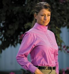 TuffRider Elegance Ladies Long Sleeve by JPC. $15.00. Cotton/Lycra. High stand-up choker (extra choker included). Placket with concealed buttons. Weft Stretch (#224) (98% Cotton, 2% Lycra). Extra curve at back to prevent shirt from riding up. Neat French seams for a fine finish. Our best-selling Elegance longsleeve show shirts provide the rider unparalleled comfort in a stretch fabric made with a superfine, 2-ply cotton yarn.
