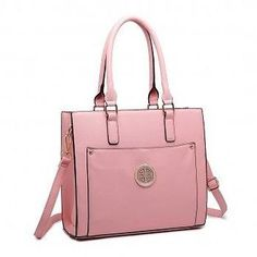 8d270cf6120 Miss LuLu (Original) Women/Ladies Fashion Leather Look Shoulder Handbag-  Pink
