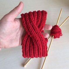fascia per capelli di pura lana merino rossa idea regalo per