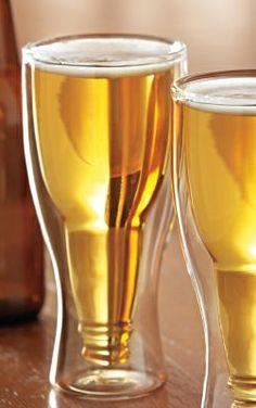 Hopside Down // upside down beer bottle within a Pilsner glass #productdesign