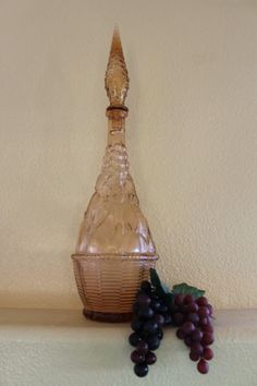 Vintage Glass  Cruet or Carafe with Original Stopper by ZuziDesign, $9.99