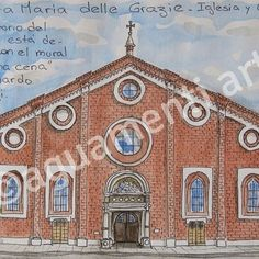 Santa Maria delle Grazie, Milano, Italia.   #Art #Milano #Italia #watercolor #sketch #artwork #painting #paint #ink