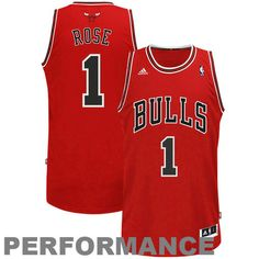 408e9c008 Mens Chicago Bulls Derrick Rose adidas Red Swingman Road Jersey