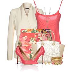Floral Shorts & Heels, created by brendariley-1 on Polyvore