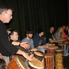 Drumming Circle. Student Activities at University of Wisconsin - Fond du Lac