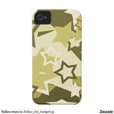 Yellow stars iPhone 4 cover