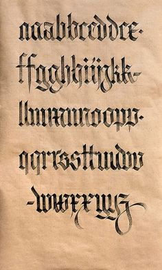 Textura vs. Fraktur. | da Syntax One Black Letters