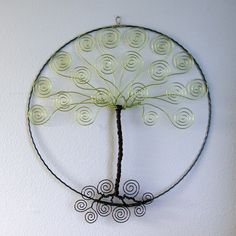 Tree of Life  Wall Wire Tree  Business Card Holder by TwystedWyres, $50.00