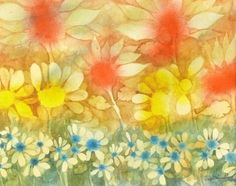 Original Watercolor Painting Forget-Me-Not by DistractionsArt
