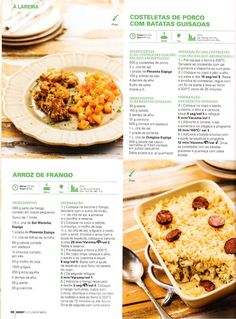 Rice Recipes, Recipies, Guisado, Confort Food, Portuguese Recipes, Happy Foods, Yummy Appetizers, Chana Masala, Risotto