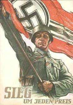 Nazi Propaganda Poster - World War II - Military Pictures - Air . Nazi Propaganda, Nagasaki, Hiroshima, Ww2 Posters, Fukushima, German Army, Military History, World War Ii, Vintage Posters