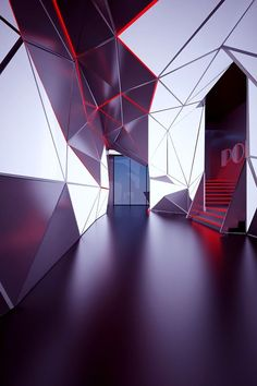 Faceted ceiling , Polygon club Lift wall returning into ceiling Night Street, Exposition Photo, Nightclub Design, Plafond Design, Space Architecture, Stage Design, Commercial Interiors, Ceiling Design, Retail Design