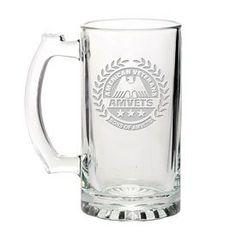 Promotional Libbey 15 oz. Glass Beer Mug Etched | Customized Libbey 15 oz. Glass Beer Mug Etched | Promotional Etched Beer Tankards