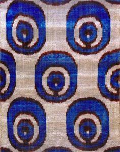 """UZBEK Pure Silk Ikat Handcrafted ABR Velvet Fabric """"Bakhmal""""   eBay"""