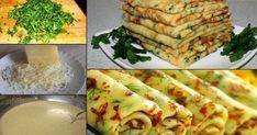 CLĂTITE CU CAȘCAVAL ȘI VERDEAȚĂ! De când am primit această rețetă de la bunica, o fac aproape în fiecare săptămână. Familia mea, pur și simplu, le adoră! Iată cât de ușor se prepară…   Dairy, Bread, Cheese, Food, Brot, Essen, Baking, Meals, Breads