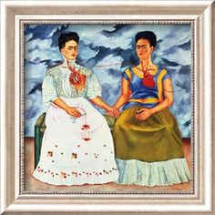 The Two Fridas, c.1939 Lamina Framed Art Print by Frida Kahlo