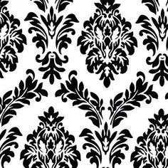 Tablecloth, White with Black Velvet Flocking