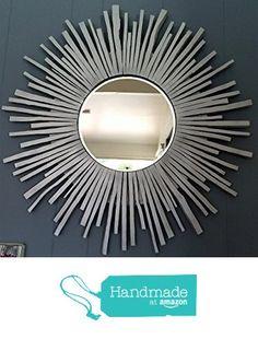 "Sunburst Silver Wall Mirror 28"" from Handmade Wall Mirrors By Juana Bonilla https://www.amazon.com/dp/B01C6ABBAY/ref=hnd_sw_r_pi_awdo_MlVDybK1D82HG #handmadeatamazon"