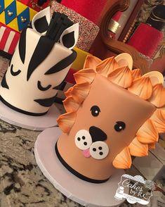 "2,604 Me gusta, 29 comentarios - RosaMaria ⚾️⚾ (@cakesbyrc) en Instagram: ""#tbt #tiger #zebra #doublebarrel #safari #cakes these babies were tall #cakesbyrc #cakedecorator"""