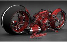 Indian Gorilla V4 Motorcycle Concept by Vasilatos Ianis
