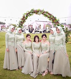 Inspired by – Hijab Fashion Kebaya Hijab, Kebaya Dress, Dress Pesta, Kebaya Muslim, Muslim Dress, Hijab Dress Party, Hijab Wedding Dresses, Dress Wedding, Mint Bridesmaid Dresses