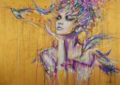 "Saatchi Online Artist: Lykke Steenbach Josephsen; Mixed Media, 2013, Painting ""Let it go..."" #LykkeJosephsen"