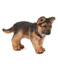 Look what I found on #zulily! Baby German Shepherd Figurine #zulilyfinds