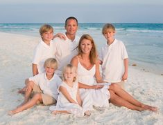 Family beach picture-totally doing all white and khaki:)