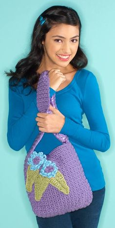 Margaret Hubert's I Love Yarn Day tote bag #free crochet pattern