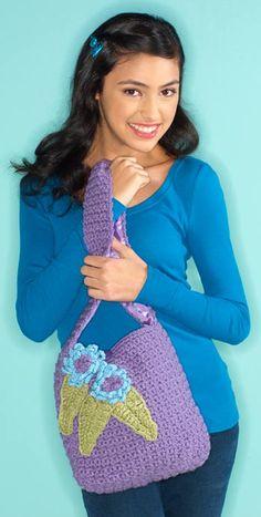 Margaret Hubert's I Love Yarn Day tote bag #free crochet pattern