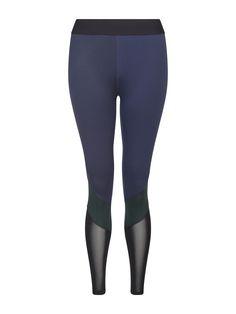 Heroine Sport Navy + Green Cycling Leggings from Fashercise
