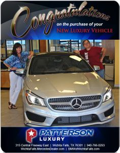 Hand on your HIP! Congratulations to Bruce Lewark on his 2014 Mercedes-Benz - From Elizabeth Speer at Patterson Luxury Luxury Vehicle, Luxury Cars, New Bmw, Mercedes Benz, Congratulations, Vehicles, Rolling Stock, Fancy Cars, Vehicle