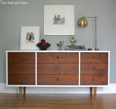 Bassett Mid Century Dresser DIY Makeover