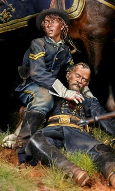"""Best man in our Army"" by Bill Horan. #diorama #vignette #figure_model"