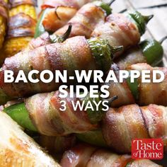 These bacon-wrapped recipes take you from tailgating to party hosting to date night with ease, because everything tastes better wrapped in bacon. Wrap Recipes, Indian Food Recipes, Italian Recipes, Tasty Videos, Food Videos, Hacks Videos, Thanksgiving Recipes, Fall Recipes, Barbacoa