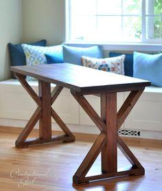 Diy Furniture Diy Rustic Desk with Stained Ikea Legs Furniture Projects, Home Projects, Rustic Furniture, Diy Furniture, Furniture Stores, Furniture Plans, Furniture Design, Diy Tisch, Table Cafe
