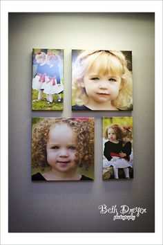 Wall gallery - love this for grandchildren pictures