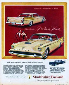 1958 Packard Hawk - Studebaker-Packard Corporation - Vintage Advertising