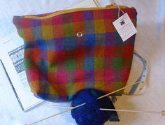 Irish Tweed Knitting Bag by TheFabulousMrG on Etsy