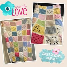 Super excited to finally be able to share this amazing blanket with you! This is truly a blanket of love squares made by many women who posted them to me to have the special honour of joining them all together and then yesterday gifting it to a dear friend of ours  #crochetlove #crochet #crochetersofinstagram #crochetblanket by sweet_sunshine_crochet