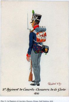 French; Imperial Guard, 2nd Regiment Conscrits-Chasseurs, 1810.