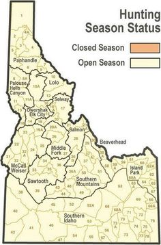 Idaho Fish and Game - Wolf Harvest Information - Limits and Map