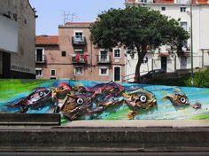 Bordalo II - Street Art - alcntra peixes