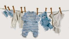Trademark Fine Art 'Baby Boy II' Canvas Art by The Macneil Studio, Size: 22 x Multicolor Canvas Art Prints, Framed Prints, Blue Teddy Bear, Karten Diy, Creation Photo, Art Mural, Creative Industries, Baby Girl Newborn, Gouache