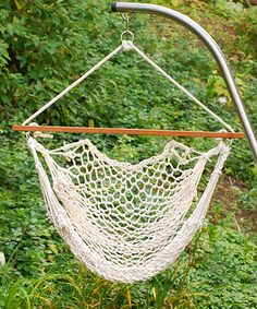 Another great find on #zulily! Hanging Cotton Rope Chair #zulilyfinds