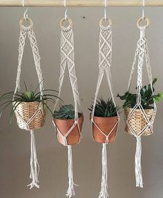 Flat zigzag split Thick cotton Macramé plant hanger Boho Plant Hanger, Macrame, Plants, Home Decor, Planters, Homemade Home Decor, Plant, Interior Design, Decoration Home