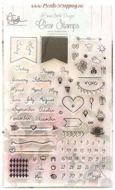 MARION SMITH DESIGN - PLANNER STAMPS 4X6 - CALENDAR Marion Smith, Filofax, 9 And 10, Day, Stamps, Design, Calendar, Stamping