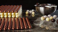 Pralinen mit Marzipan und Schokolade - Pralinenrezepte von pralinenideen.de