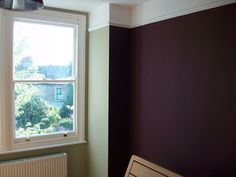 Farrow & Ball Ball Green and Brinjal. Dying to try Brinjal! Farrow And Ball Living Room, Farrow And Ball Paint, Farrow Ball, Dark Bedroom Walls, Bedroom Wall Colors, Wall Colours, Dark Walls, Paint Colours, Bedroom Ideas